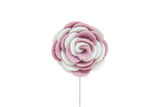 Ashley White/Pink Flower Lapel Pin (S/S 2015)