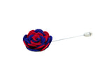 Ashley Blue/Red Flower Lapel Pin (S/S 2015)