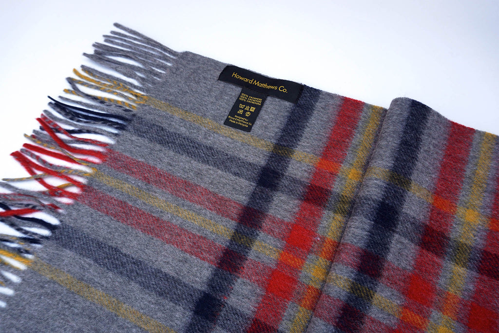 Ted Bakerstaff 100% Cashmere Scarf by Howard Matthews Co. (F/W 2015 Collection)