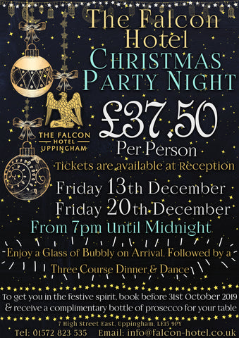 Christmas Party Night - Friday 13th & Friday 20th December 2019