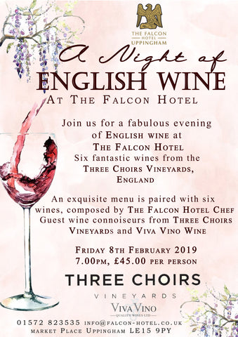 A Night of English Wine - Friday 8th February 2019