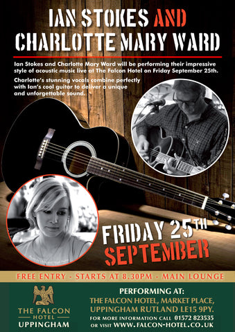 Friday 25th September 2015 - Ian Stokes & Charlotte Mary Ward