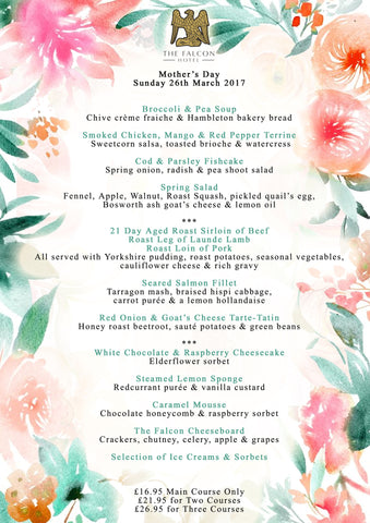Mother's Day Lunch ~ Sunday 26th March 2017
