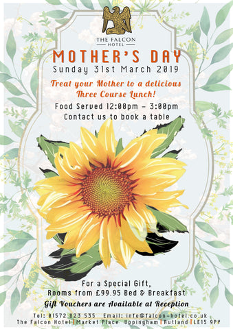 Mother's Day - Sunday 31st March 2019