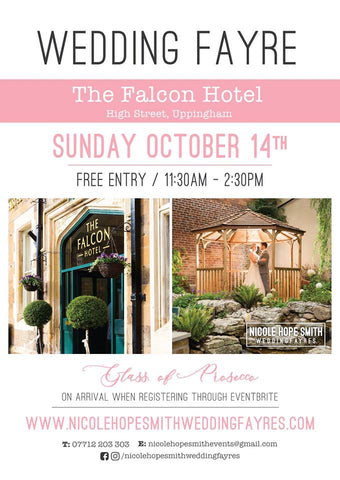 Wedding Fayre - Saturday 14th October 11:30am - 2:30pm