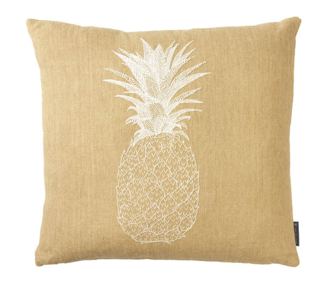 Pineapple - White on Beige
