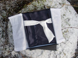 Midnight Blue Organic Silk Pillowcase - European Size