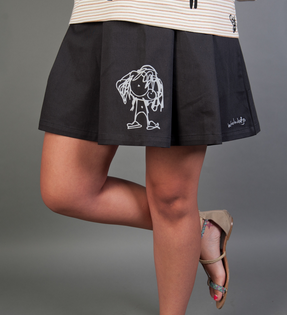 Pleated Mini School-Girl Skirt