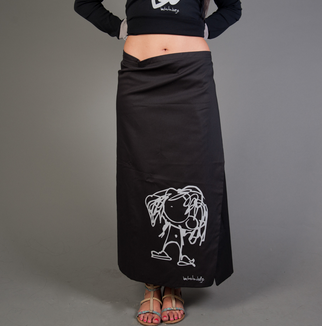 Black Organic Cotton Maxi Skirt