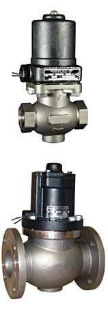 "Type ""K"" Full Port - Stainless Solenoid Valve - Normally Closed"