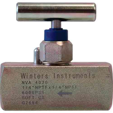 Winters NVA Needle Valve (Straight Body, Soft Seat)