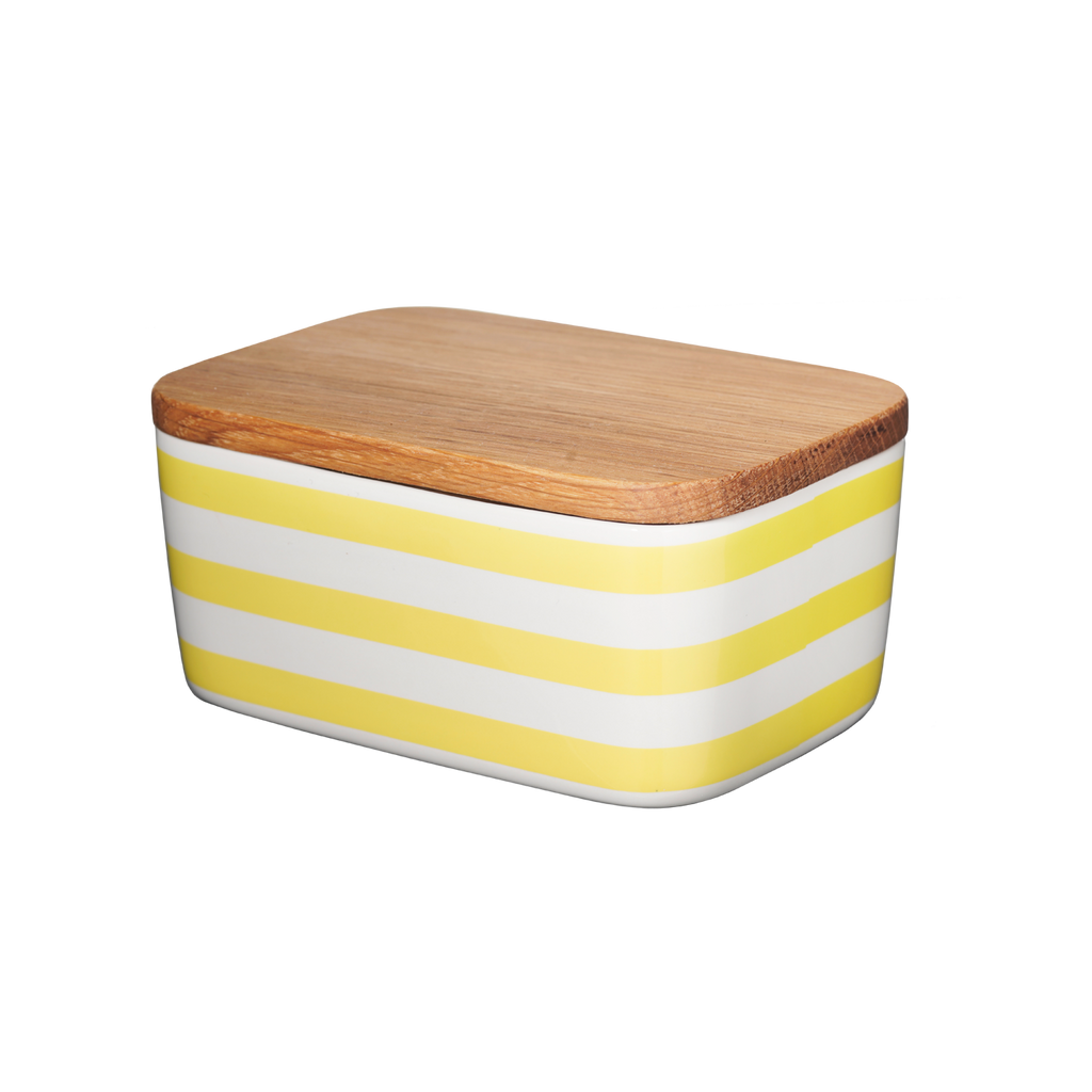 Butter Box, Stripes, yellow