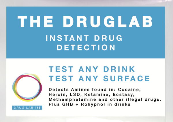The DRUGLAB. New instant Drink Spiking & drug detection test. (single use)