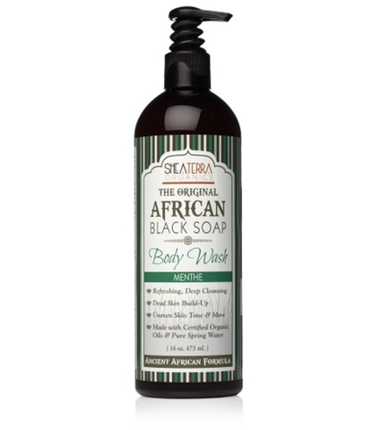 The Original African Black Soap Body Wash (Menthe)