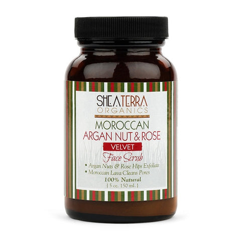 Moroccan Argan Nut & Rose Velvet Face Scrub & Masque