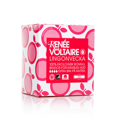 Lingonvecka Pads Night by Renée Voltaire - 10 pack
