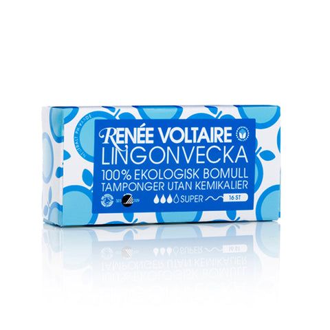 Lingonvecka Tampons Super by Renée Voltaire - 16 pack