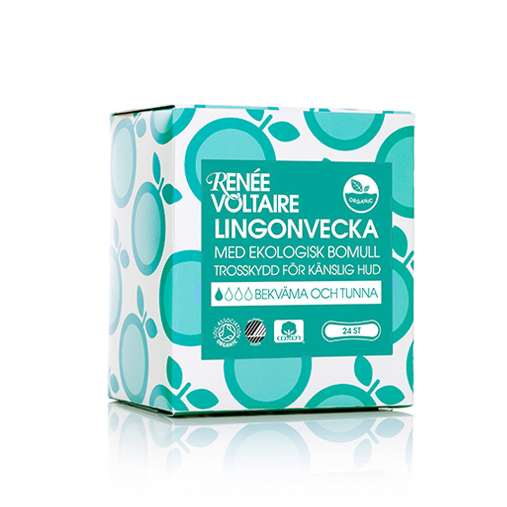 Lingonvecka Pantyliners by Renée Voltaire - 24 pack