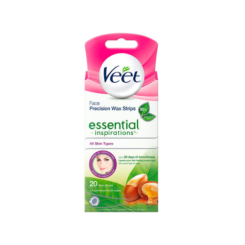 Veet Face Precision Wax Strips - 20 pack
