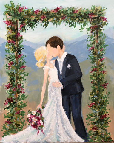 live wedding painting - asheville wedding - live painter