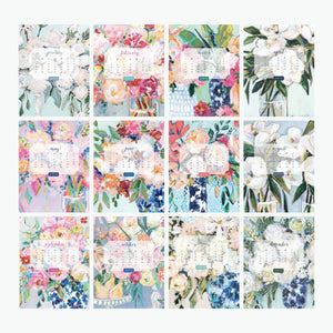 2019 Floral Table Calendar (No Stand)