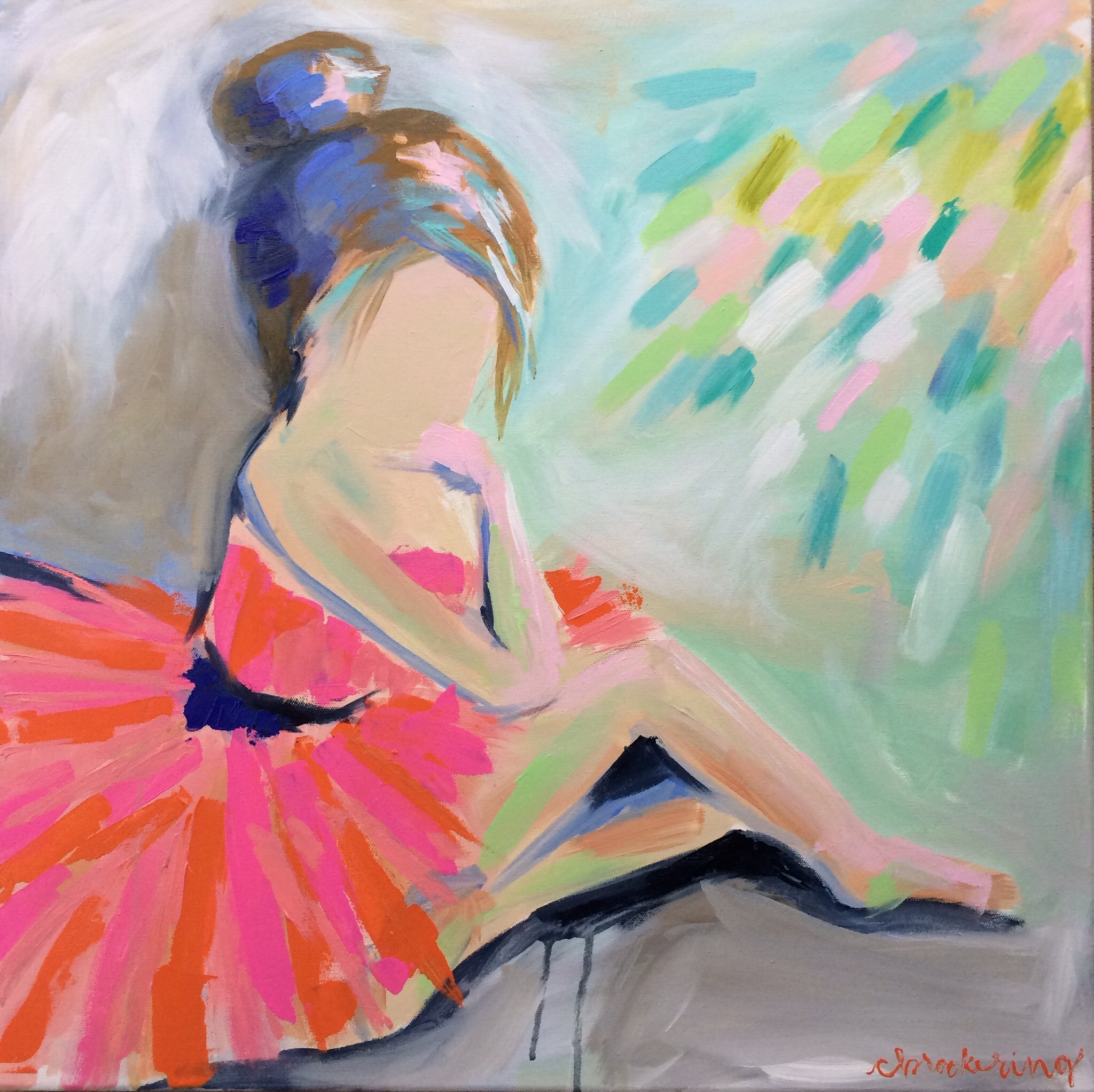 Pink and Orange Ballerina