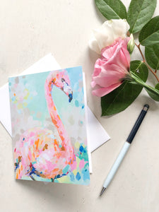Flamingo Notecard Set