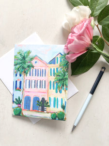 Rainbow Row Notecard Set