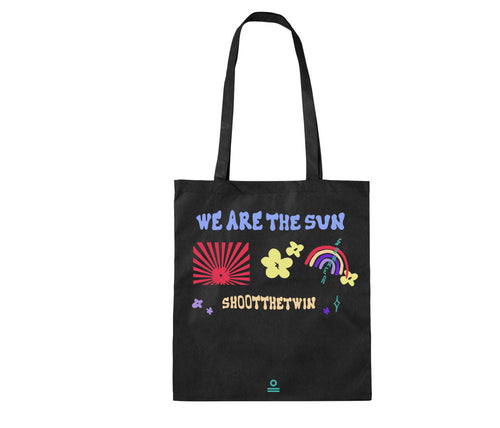 .b / Bags SR WE ARE THE SUN FLOWERS! - NATURAL AND BLACK