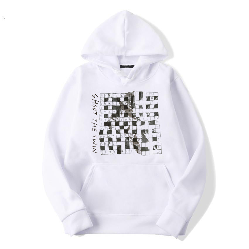 .c / SR Quarantine Crossword - WHITE - Hoodie