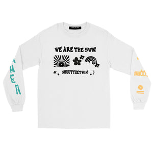 .a / SR T-shirt WE ARE THE SUN! - Long Sleeve - WHITE