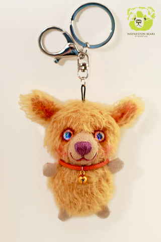 Teddy Bear Key Ring, Shane by Wayneston Bears