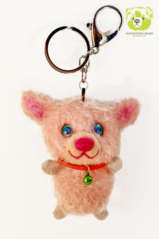 Teddy Bear Key Ring, Perri by Wayneston Bears