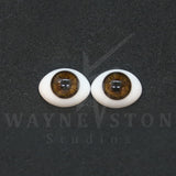 Flat Back Designer Glass Doll Eyes - 1