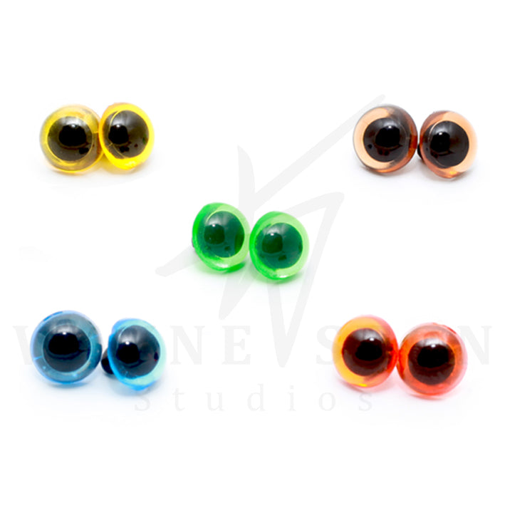 Coloured Plastic Eyes with Loops