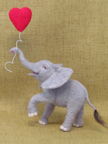 Needle Felt Baby Elephant by OooDolls (1-Day Special Workshop)