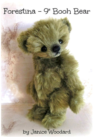 "Booh Bear - Forestina 9"" E-Pattern by Janice Woodard"