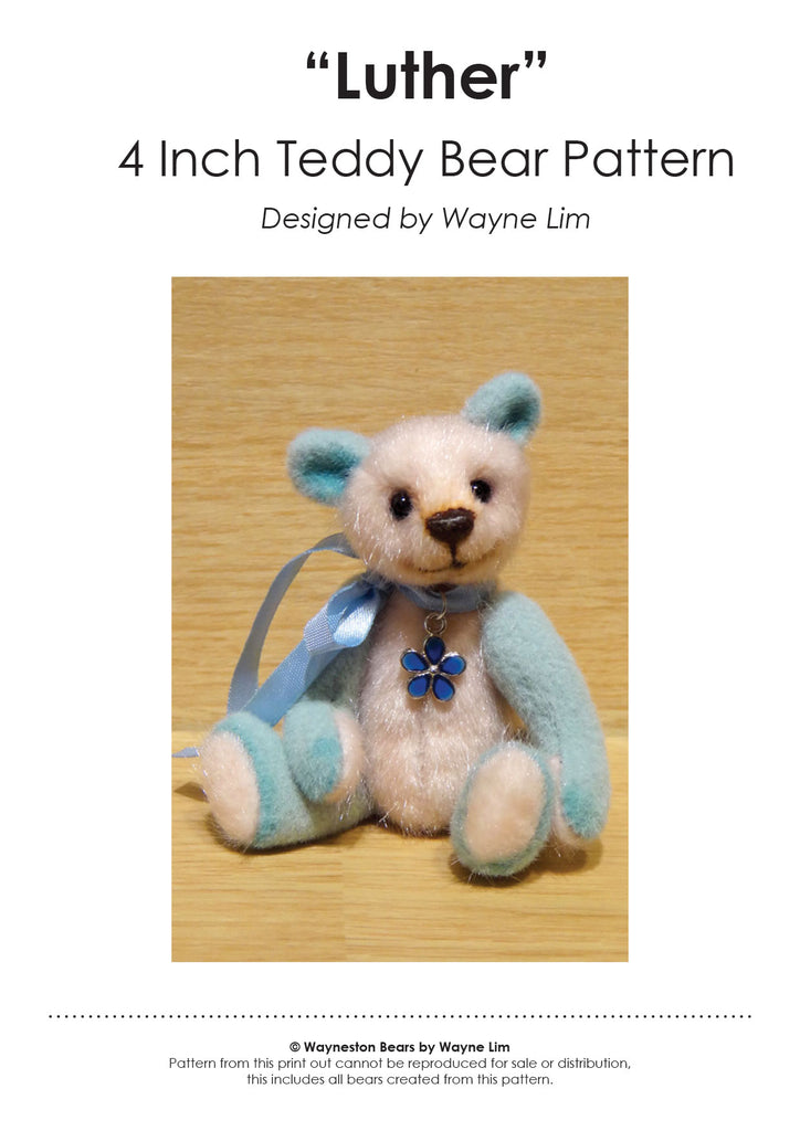 Luther by Wayneston Bears ~ FREE E-PATTERN
