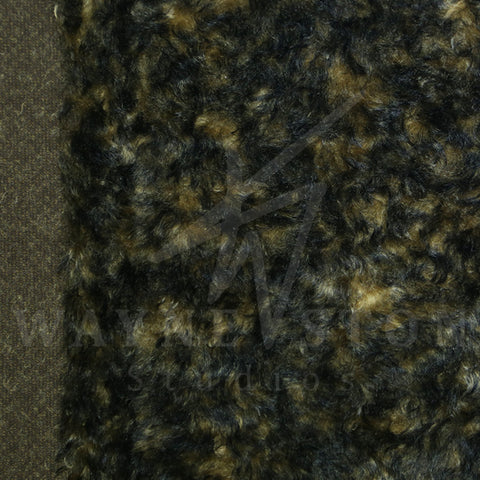 Mohair - Curl Gold Black Tips, 25mm