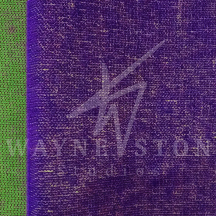 Mohair Bicolour - Purple with Green Backing, 5mm