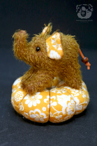 Pin Cushion, Marigold by Wayneston Bears