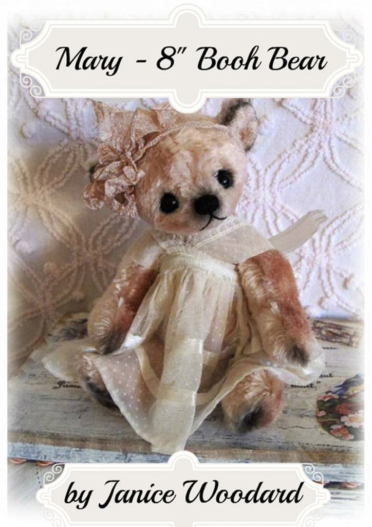 "Booh Bear - Mary 8"" E-Pattern by Janice Woodard"