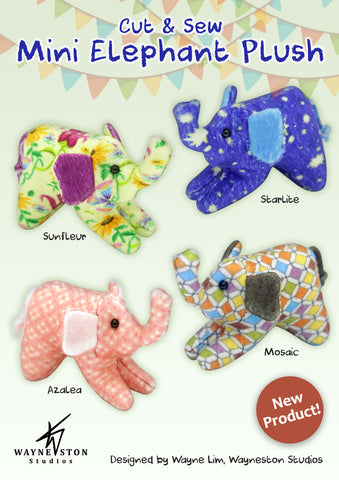 Cut & Sew Mini Elephant Plush