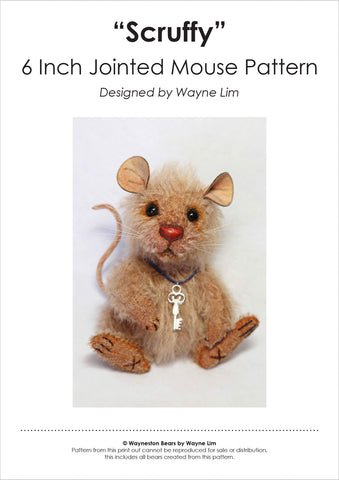 Scruffy the Mouse E-Pattern by Wayneston Bears