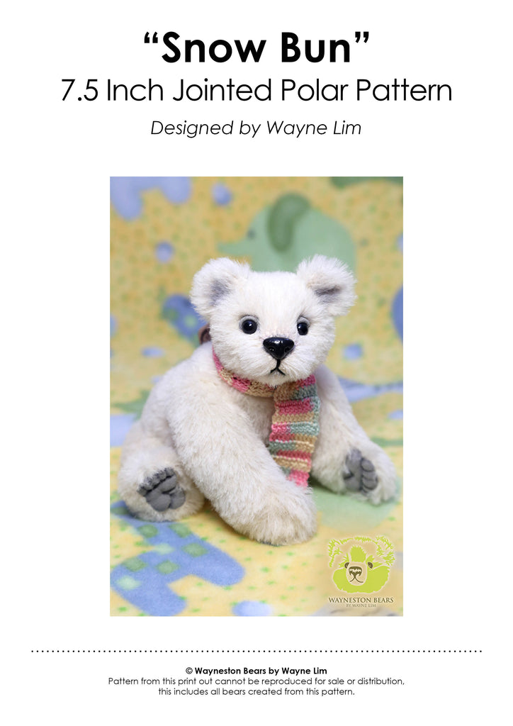 Snow Bun E-Pattern by Wayneston Bears