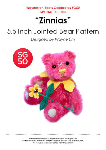 Wayneston Bears - Zinnias E-Pattern