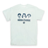 Respect the Stache T- Shirt (White)
