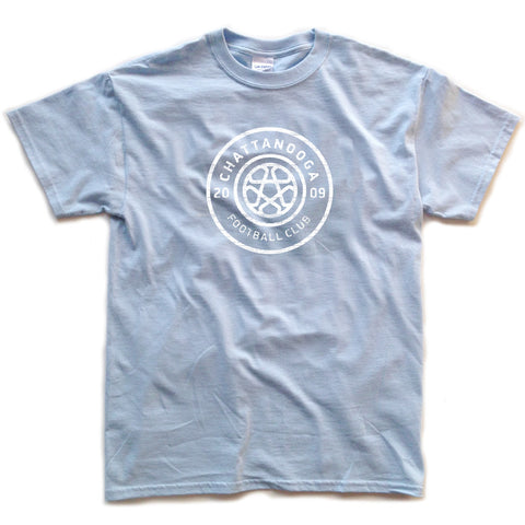 Antiqued Logo T-shirt (Sky)