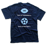 This is Throwball T-Shirt - Navy (3XL only)
