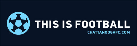 "Sticker (2.75"" x 8.5"") - This Is Football"